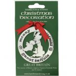 Silver Plated Christmas Decoration Great Britain 0958